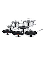 JAMIE OLIVER BY T-FAL 10 Piece Mainstream Stainless Steel Set with Bonus Wok