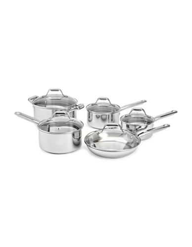 T-Fal 10-Piece Stainless Steel Cookware Set-STAINLESS STEEL-One Size