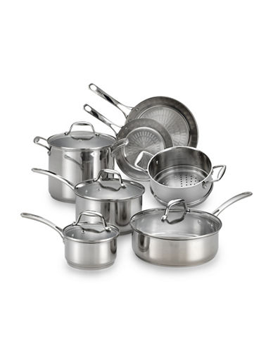 T-Fal 11-Piece Performa X Techno Release Stainless Steel Set - Induction Ready-STAINLESS STEEL-11