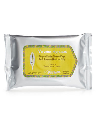 L Occitane Verveine Agrumes Hand and Body Towelettes-NO COLOR-One Size