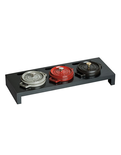 Staub Stand For 3 Mini Round Cocottes-BLACK-One Size