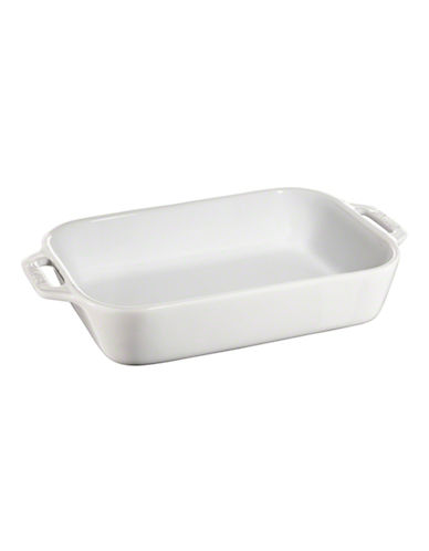 Staub Rectangular Ceramic Dish-WHITE-One Size
