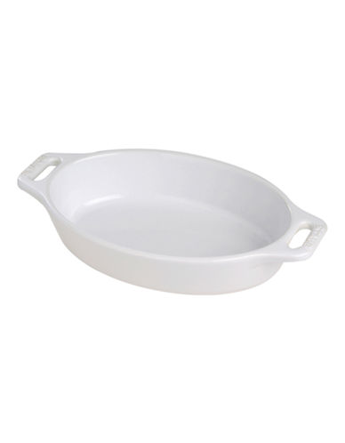Staub 0.47 Quart Ceramic Oval Dish-WHITE-One Size