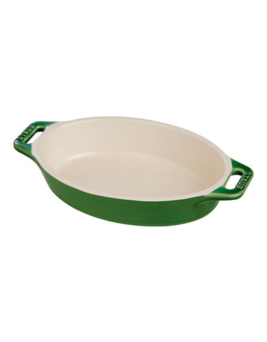 Staub 0.47 Quart Ceramic Oval Dish-GREEN-One Size