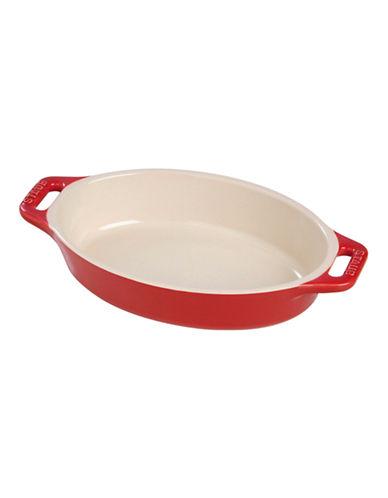 Staub One Quart Ceramic Oval Dish-CHERRY-One Size