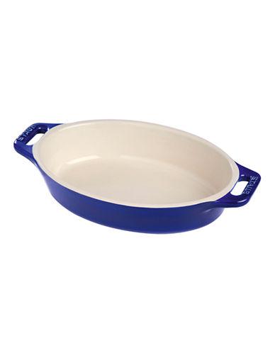 Staub One Quart Ceramic Oval Dish-BLUE-One Size