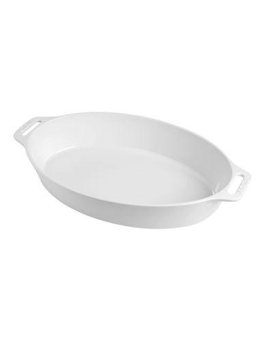 Staub 2.5 Quart Ceramic Oval Dish-WHITE-One Size