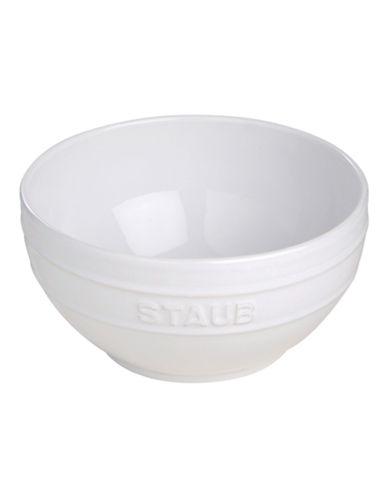Staub Large Logo Embossed Ceramic Bowl-WHITE-One Size