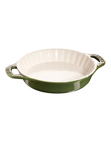 Staub 1.25 Quart Ceramic Pie Dish-GREEN-One Size