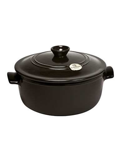 Emile Henry Round Covered Stewpot-BLACK-4L