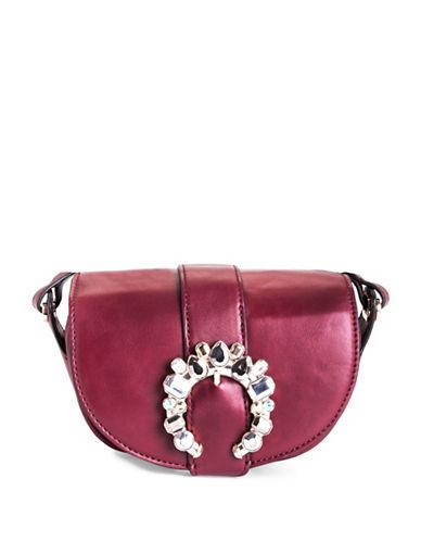 Nine West Vesle Saddle Bag-RED-One Size