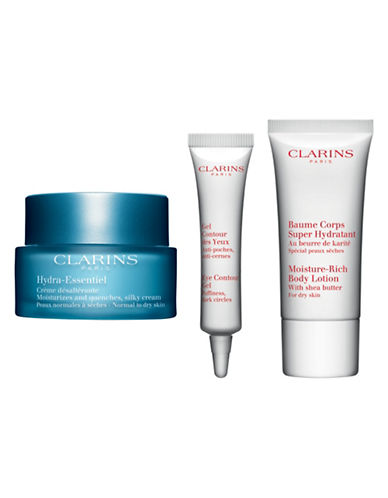 Clarins Hydra-Essentiel Three-Piece Value Set - Normal to Dry Skin-NO COLOR-One Size