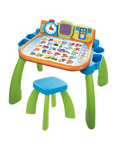 Vtech Touch and Learn Activity Desk - French Version-GREEN-One Size