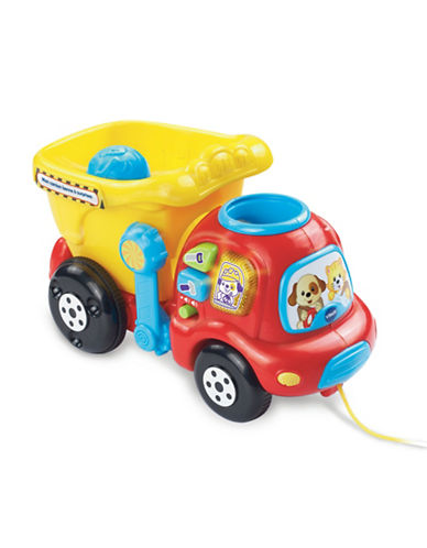Vtech Drop and Go Dumptruck (French Version)-RED-One Size