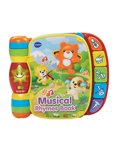 Vtech Musical Rhymes Book (English Version)-YELLOW-One Size