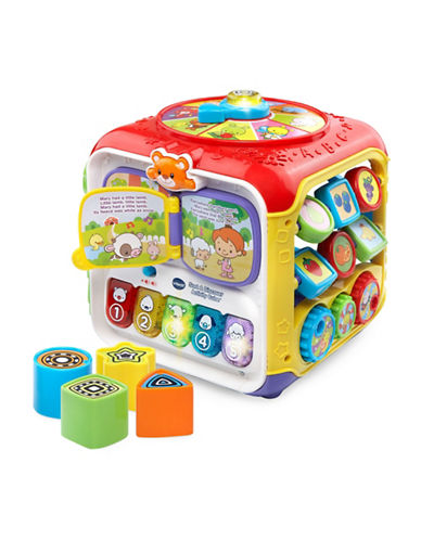 Vtech Sort and Discover Activity Cube (English Version)-RED-One Size