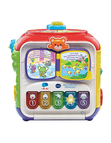 Vtech Sort and Discover Activity Cube (French Version)-RED-One Size