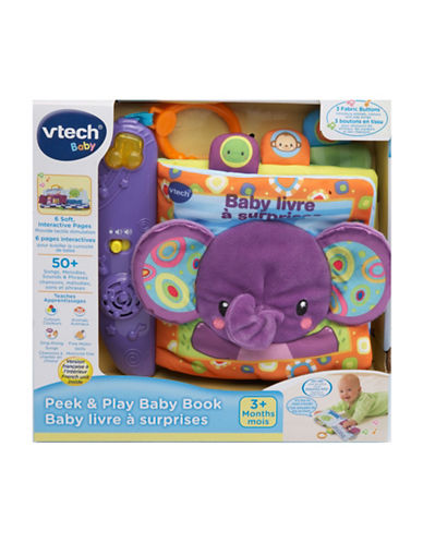 Vtech Peek and Play Baby Book (French Version)-MULTI-One Size