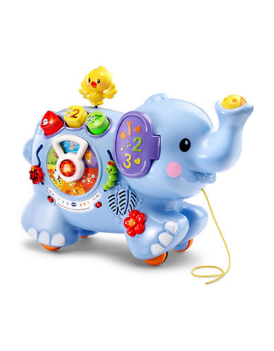 Vtech Pull and Discover Activity Elephant (English Version)-BLUE-One Size