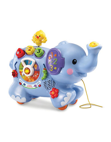 Vtech Pull and Discover Activity Elephant (French Version)-BLUE-One Size