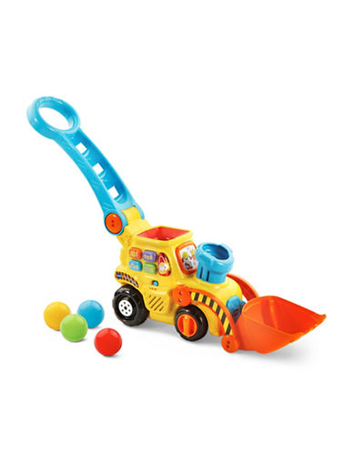 Vtech Pop-a-Balls Push and Pop Bulldozer (English Version)-YELLOW-One Size