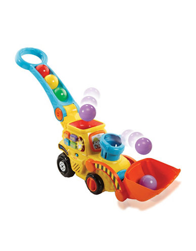 Vtech Pop-a-Balls Push and Pop Bulldozer (French Version)-YELLOW-One Size