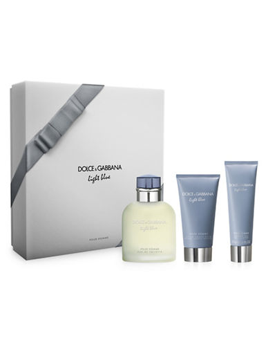 Dolce & Gabbana Light Blue Pour Homme Eau de Toilette Three-Piece Holiday Gift Set-0-125 ml