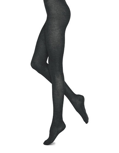 Bleu Foret Veloute Cotton Tights-GREY-4