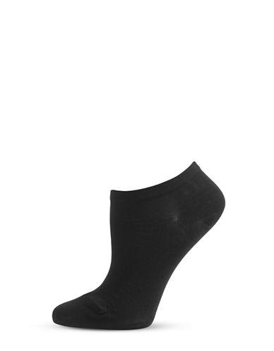 Bleu Foret Solid Liner Micro-Socks-BLACK-9-10