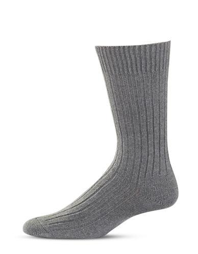 Bleu Foret Ribbed Wool-Blend Socks-GREY-8.5-12.5