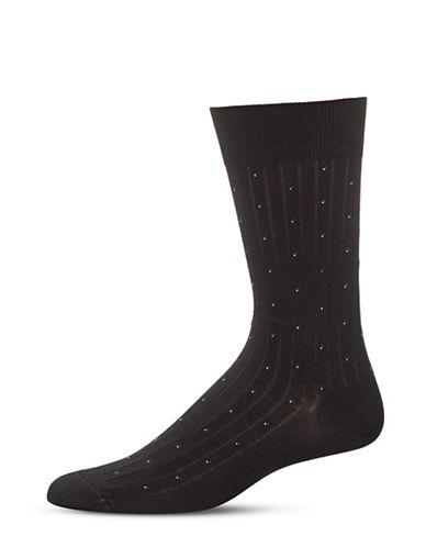 Bleu Foret Small Dots Socks-BLACK-8.5-12.5