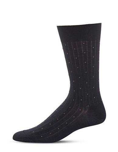 Bleu Foret Small Dots Socks-NAVY-8.5-12.5