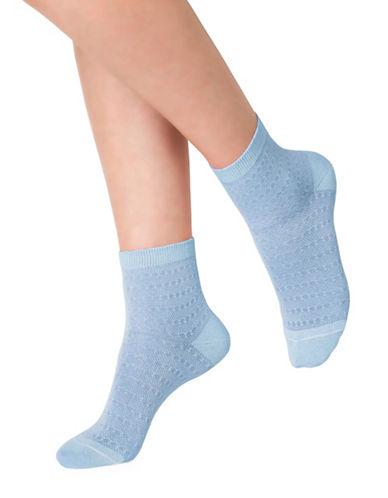 Bleu Foret Glitter Ankle Socks-BLUE-9-10