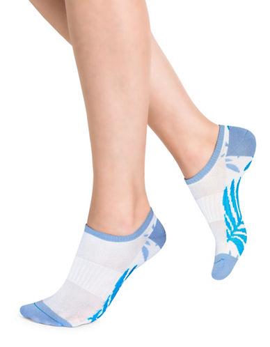 Bleu Foret Palm Low Ankle Socks-BLUE-One Size