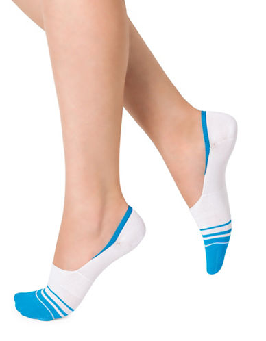 Bleu Foret Stripe Low Footlets-BLUE-One Size