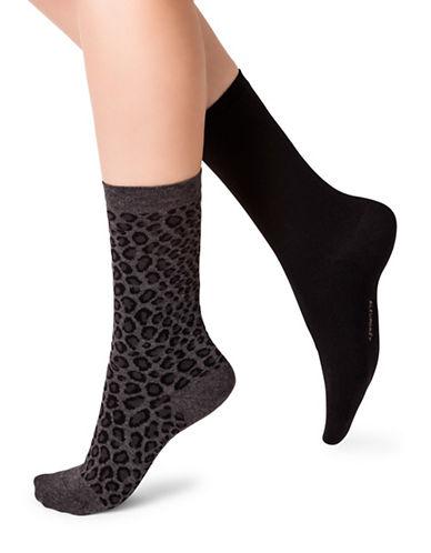 Bleu Foret Twin Pack Socks-BLACK-Small