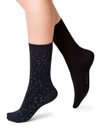 Bleu Foret Twin Pack Socks-BLUE-Medium