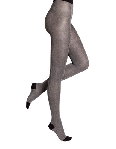 Bleu Foret Capsule Lurex Tights-SILVER-Small
