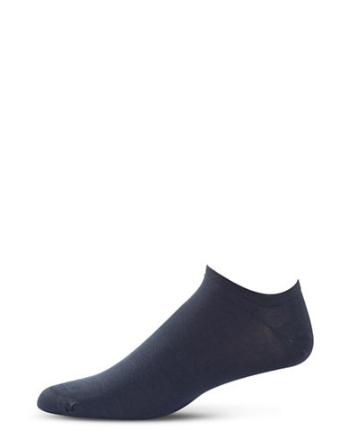 Bleu Foret Invisible Ribbed Crew Socks-BLUE-8.5-12.5