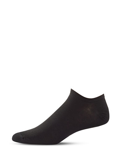 Bleu Foret Invisible Ribbed Crew Socks-BLACK-8.5-12.5