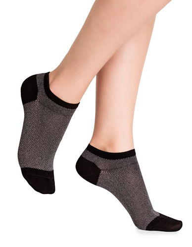 Bleu Foret Spangled Ped Socks-BLACK-Small
