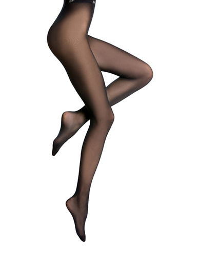 Bleu Foret Velvety Semi-Opaque Tights-BLACK-Small