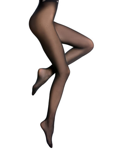 Bleu Foret Velvety Semi-Opaque Tights-BLACK-Medium