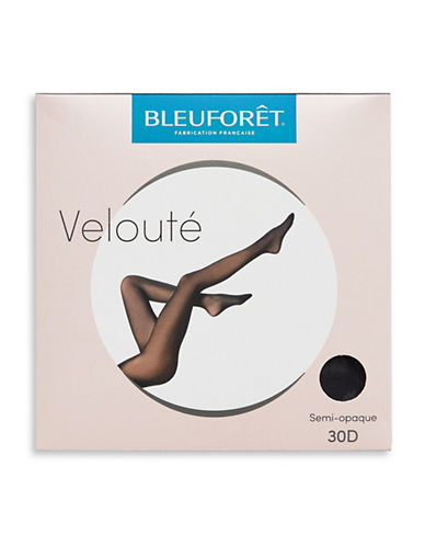 Bleu Foret Velvety Semi-Opaque Tights-NAVY-Small