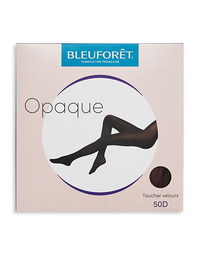 Bleu Foret Velvet Opaque Tights-RED-Large