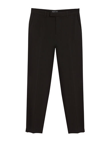 Agnès B. Lelia Wool Blend Pants-BLACK-10