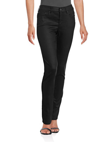 Agnès B. Low-Rise Slim-Fit Jeans-BLACK-8