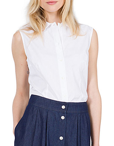 Agnès B. Tamaris Sleeveless Shirt-WHITE-12