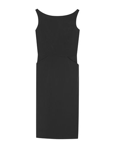 Agnès B. Sleeveless Pencil Dress-BLACK-6