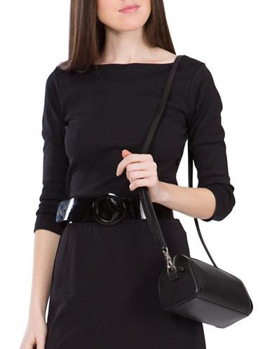 Agnès B. Solid Three-Quarter Sleeve Top-BLACK-1